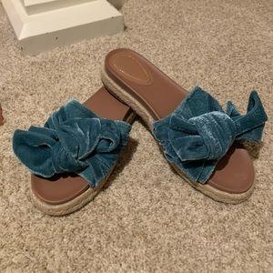 Zara terry cloth slide sandals